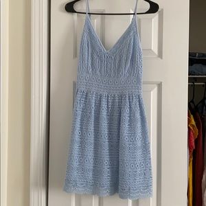 Abercrombie & Fitch Light Blue Crochet Dress